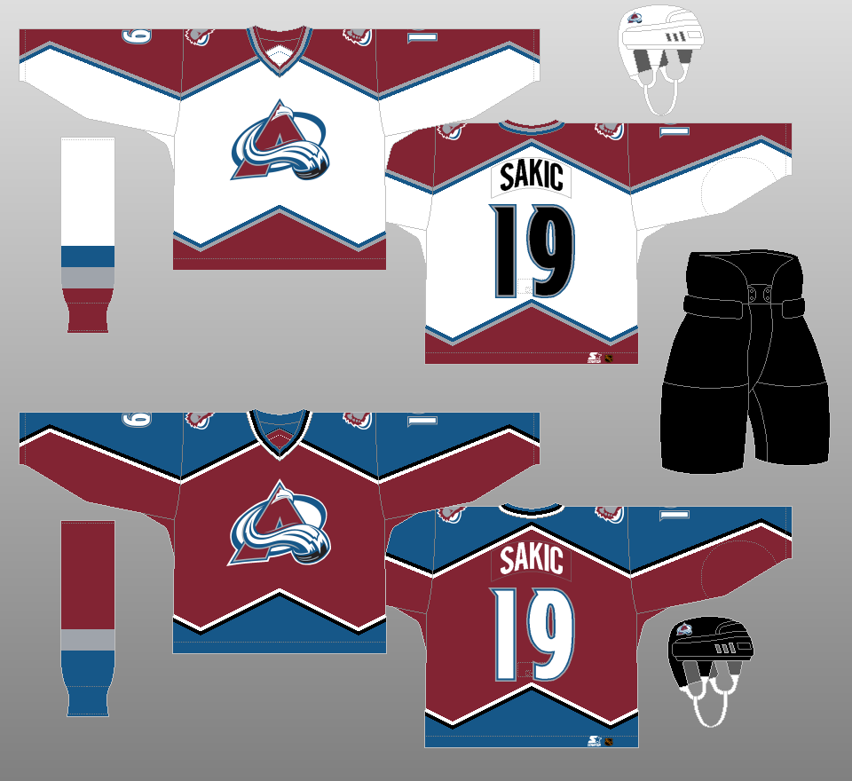 colorado avalanche jersey change